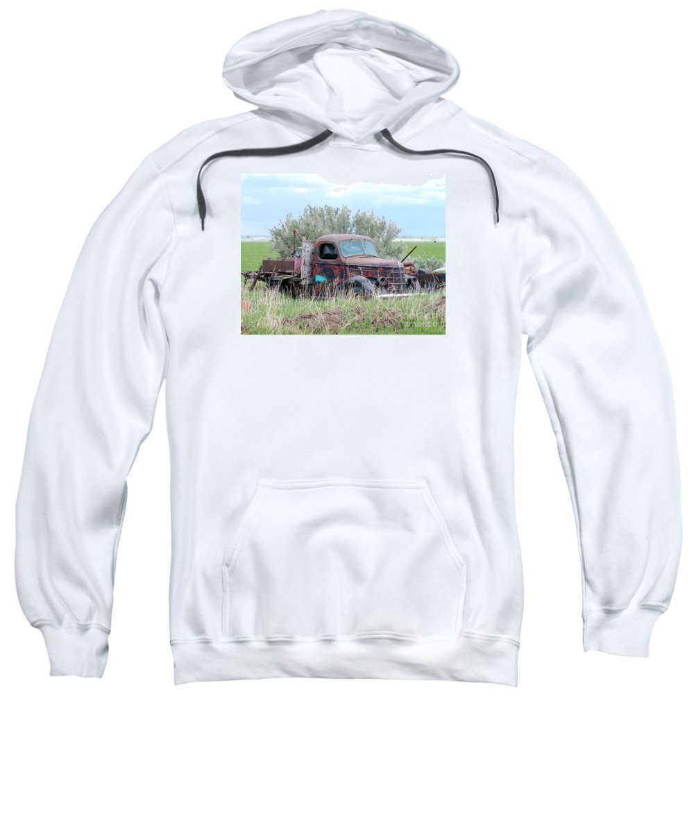 International Sweatshirt featuring the photograph Ranch Truck by Brad Christensen