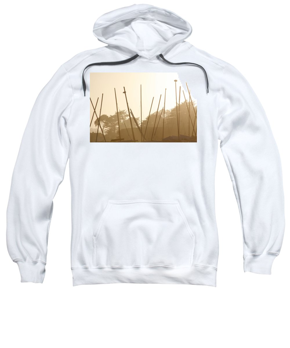Boat Sweatshirt featuring the photograph Random Masts by Marilyn Hunt