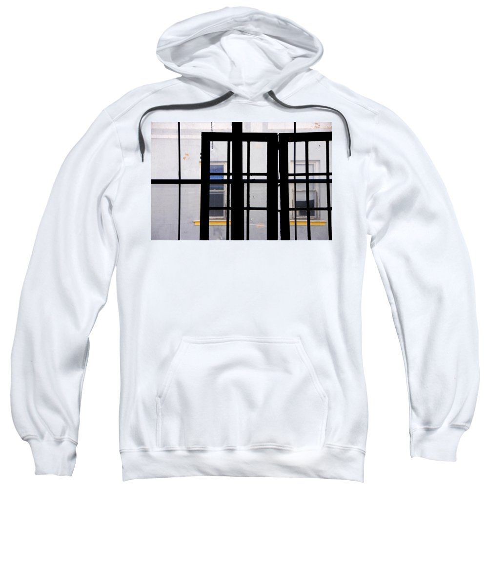 Skip Hunt Sweatshirt featuring the photograph Rear Window 1 by Skip Hunt