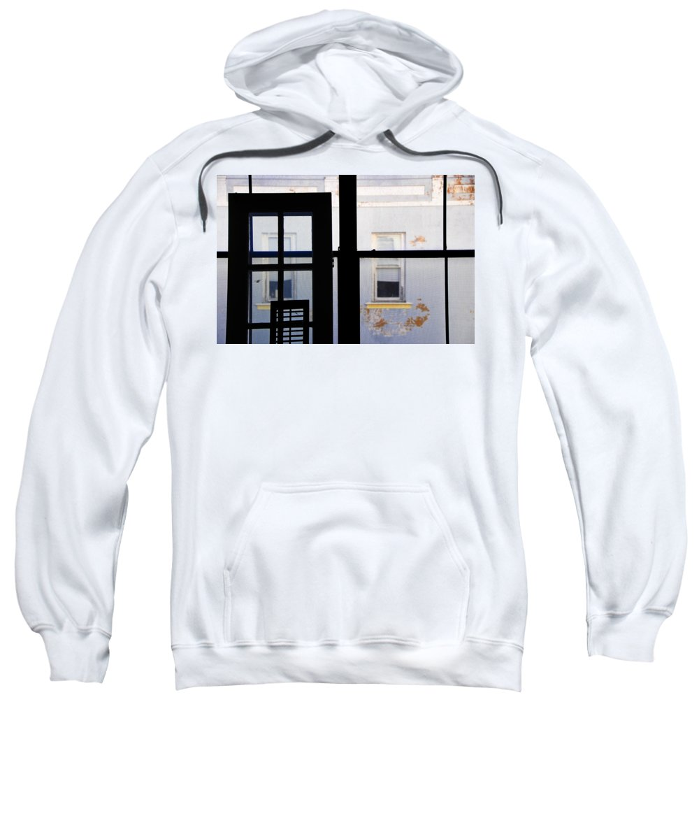 Architecture Sweatshirt featuring the photograph Rear Window 3 by Skip Hunt