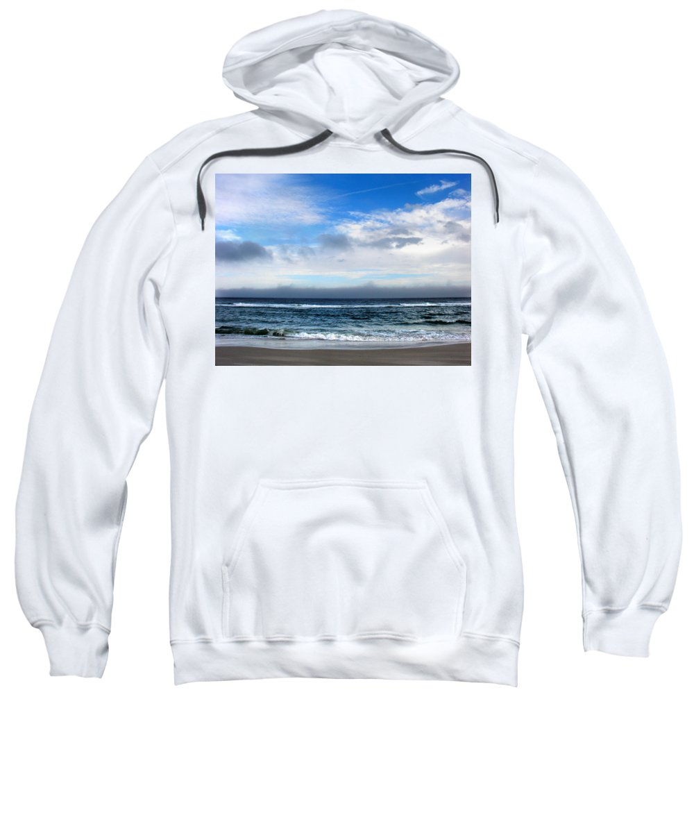 Seascape Sweatshirt featuring the photograph Receding Fog Seascape by Steve Karol