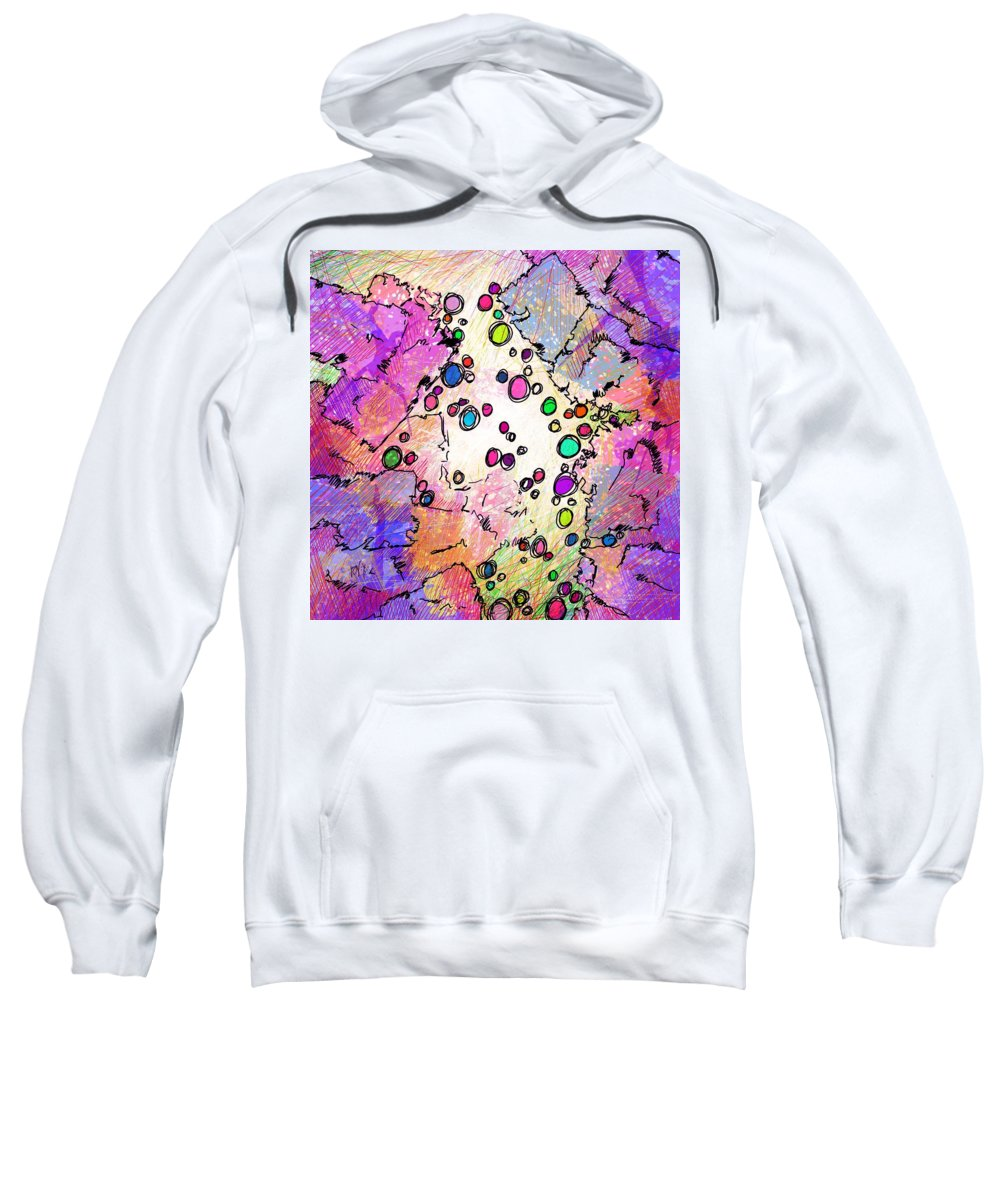 Recess Sweatshirt featuring the digital art Recess by Rachel Christine Nowicki