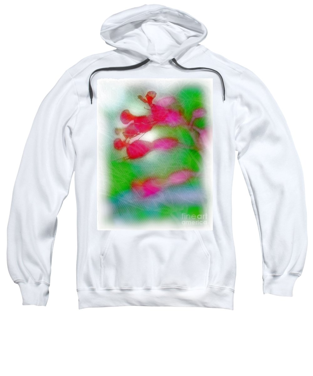 Red Sweatshirt featuring the photograph Red Buckeye by Judi Bagwell