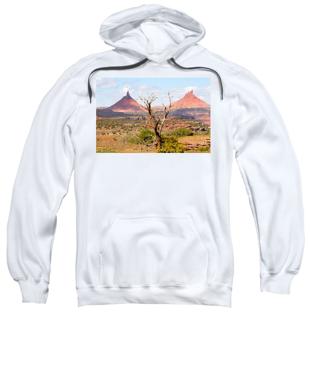 Buttes Sweatshirt featuring the photograph Red Buttes by David Lee Thompson