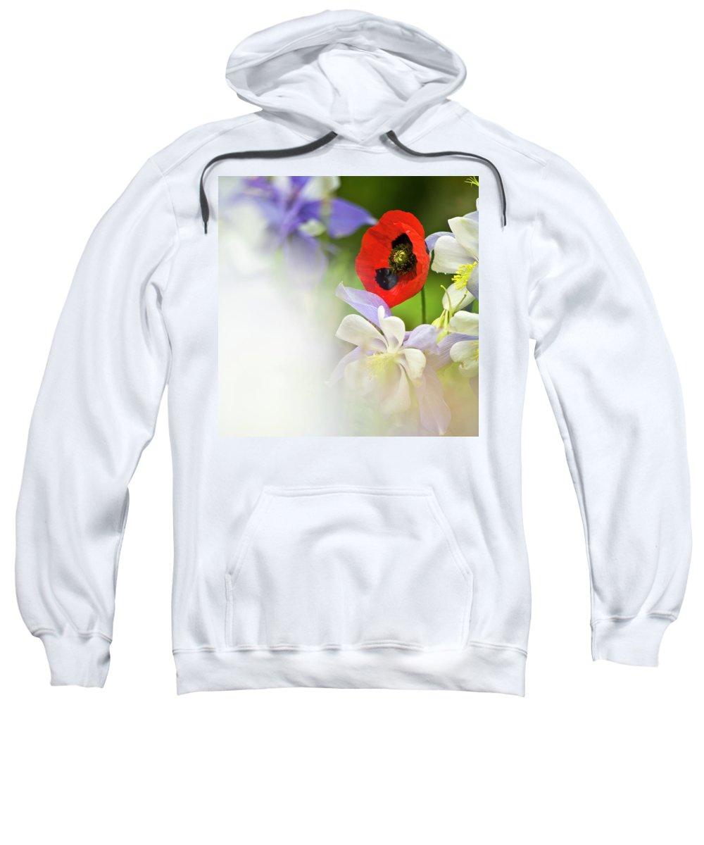 Poppy Sweatshirt featuring the photograph Red Corn Poppy by Heiko Koehrer-Wagner