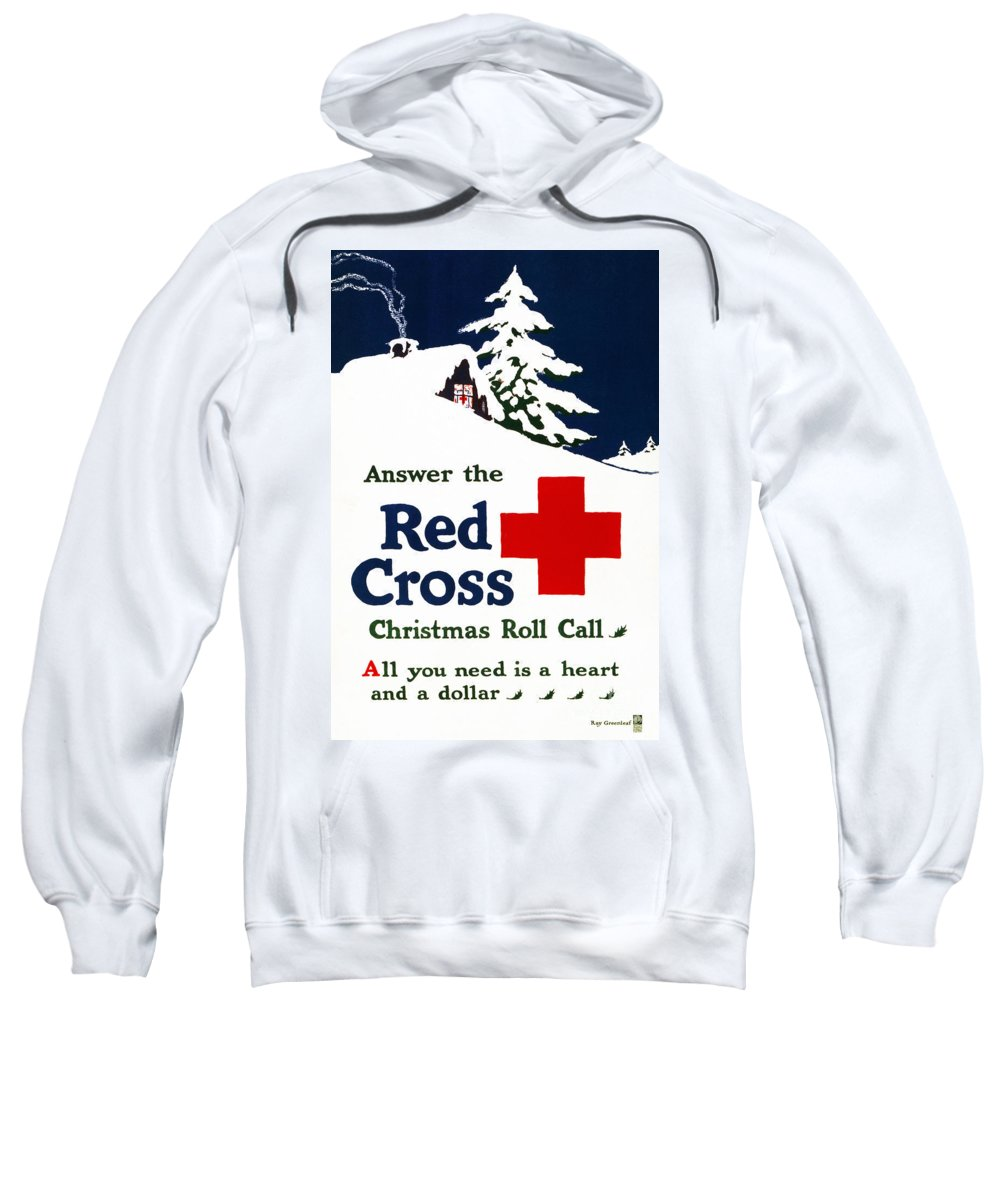 1915 Sweatshirt featuring the photograph Red Cross Poster, C1915 by Granger
