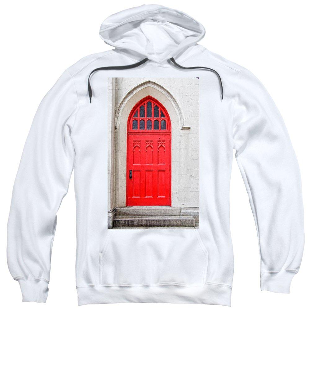 Door Sweatshirt featuring the photograph Red Door by Christopher Holmes