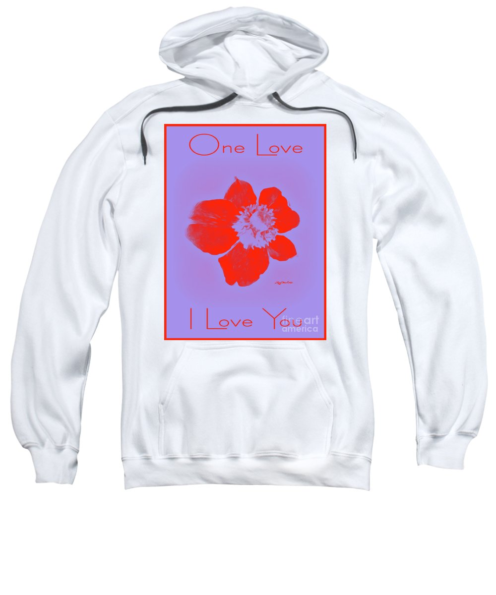 Flower Sweatshirt featuring the photograph Red Hot Passion Flower by Art by MyChicC