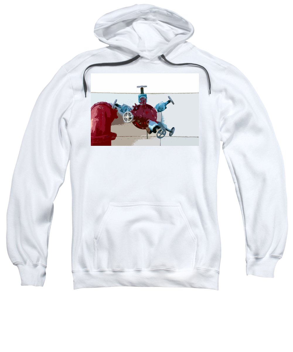 Art Sweatshirt featuring the photograph Red Pump by David Lee Thompson