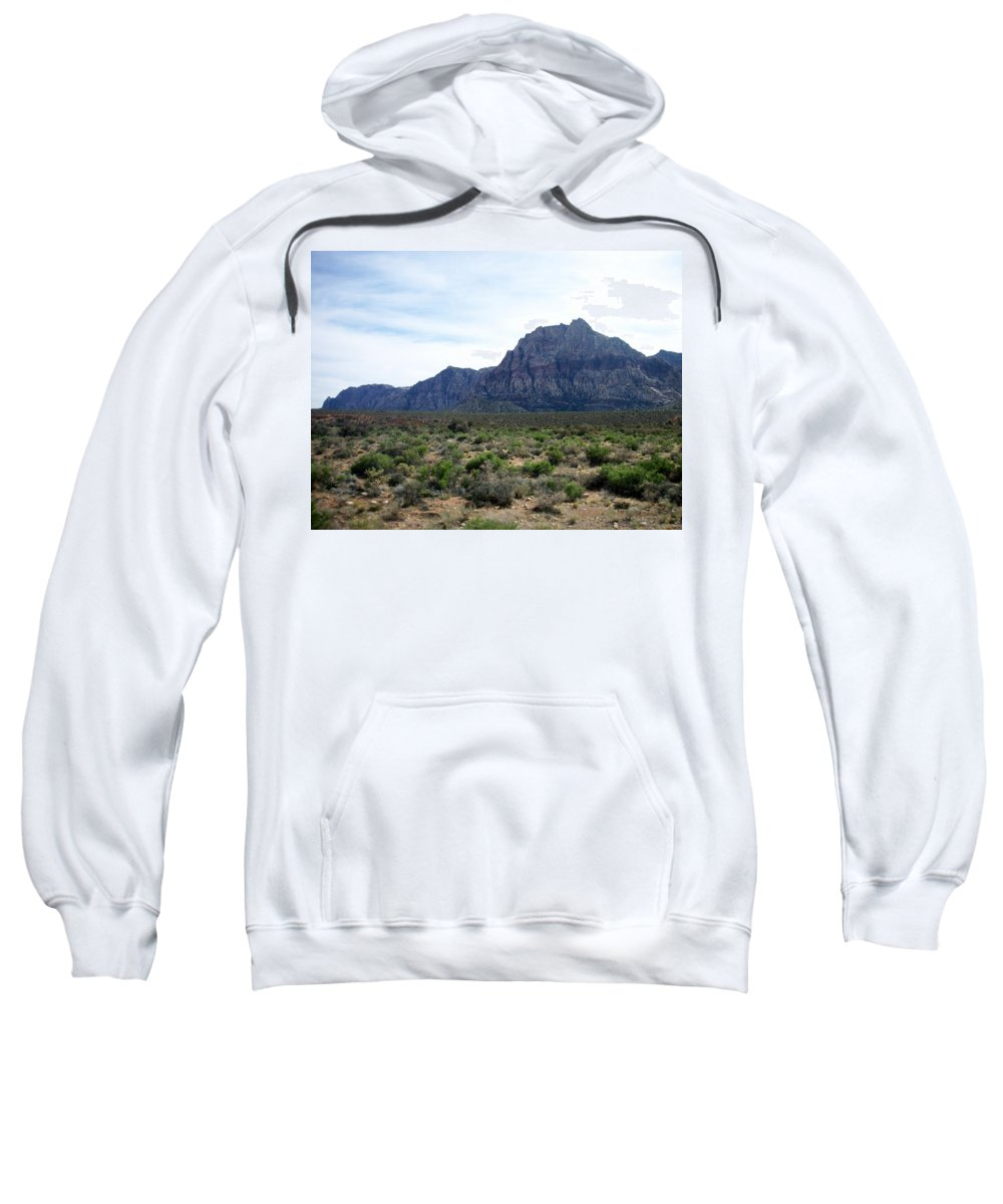 Red Rock Canyon Sweatshirt featuring the photograph Red Rock Canyon 3 by Anita Burgermeister