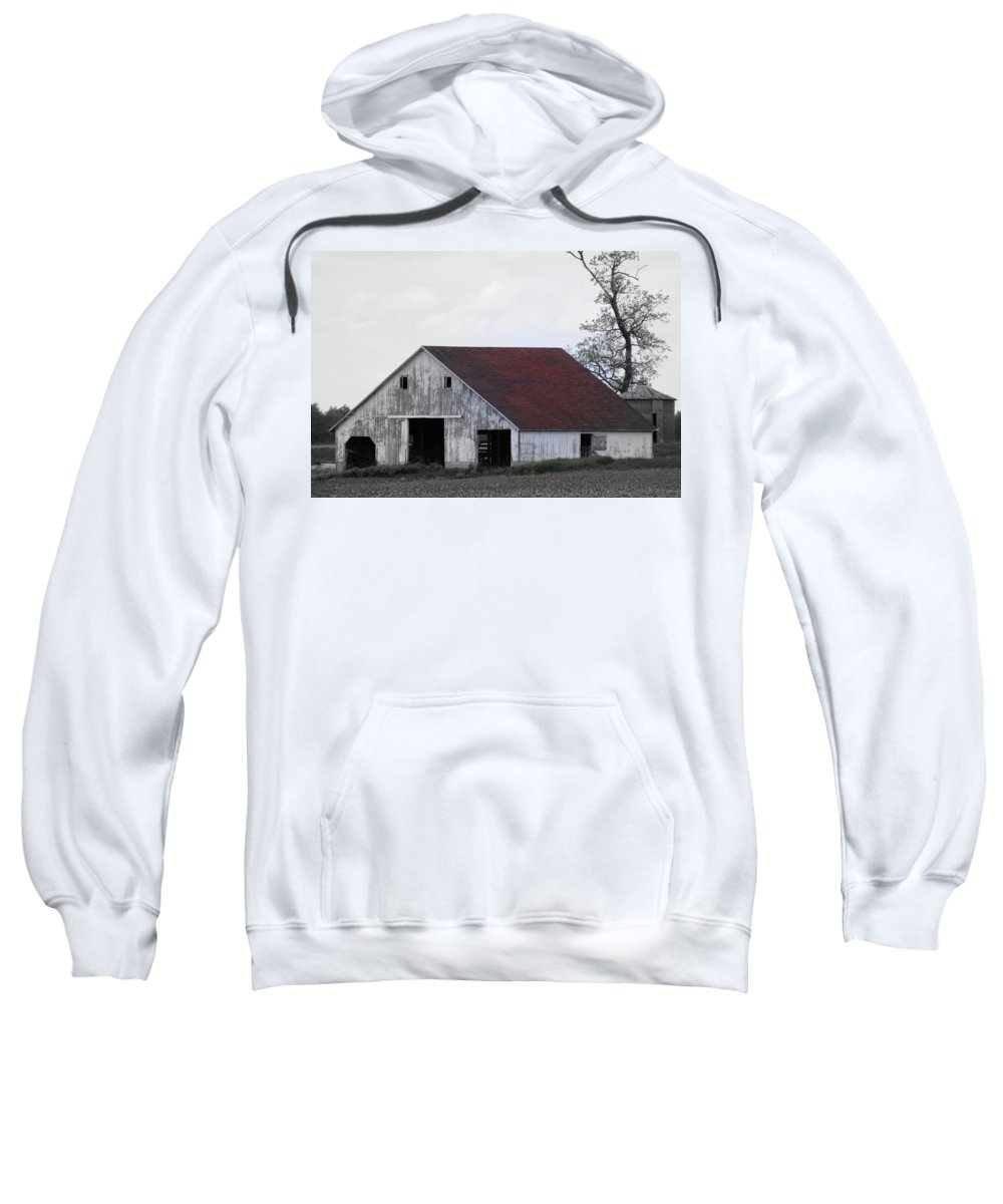Barn Sweatshirt featuring the photograph Red Roof Barn by Ed Smith