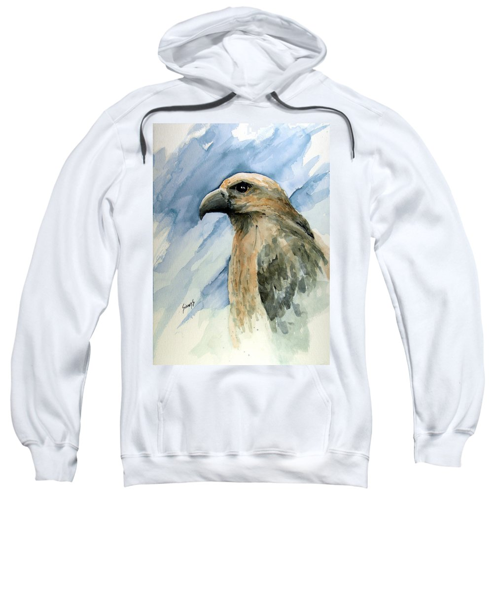 Bird Sweatshirt featuring the painting Red by Sam Sidders
