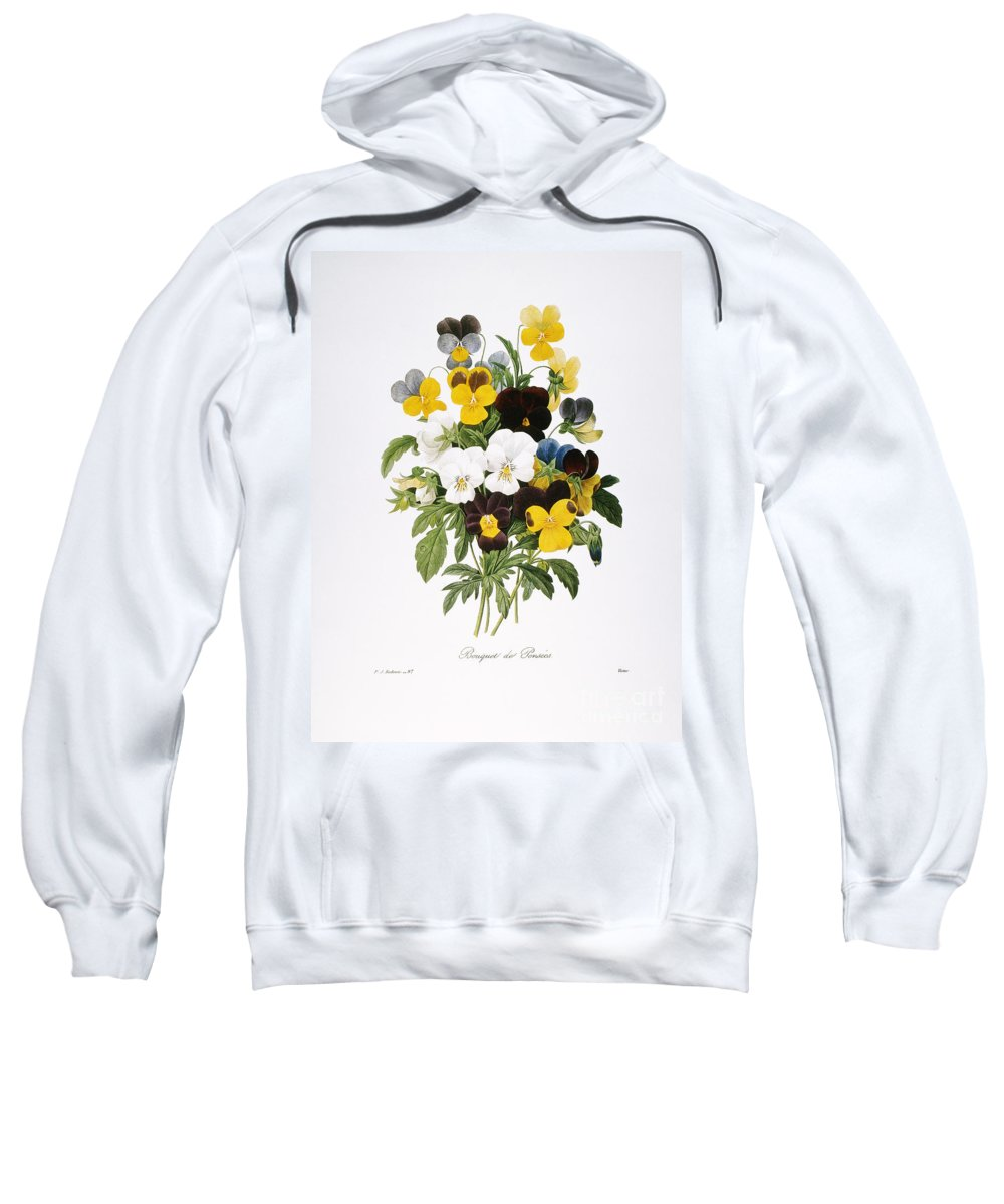 1833 Sweatshirt featuring the photograph Redoute: Pansy, 1833 by Granger