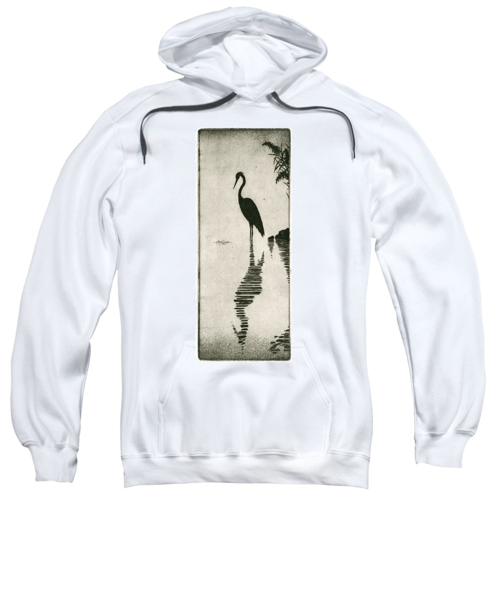 Charles Harden Sweatshirt featuring the drawing Reflecting by Charles Harden