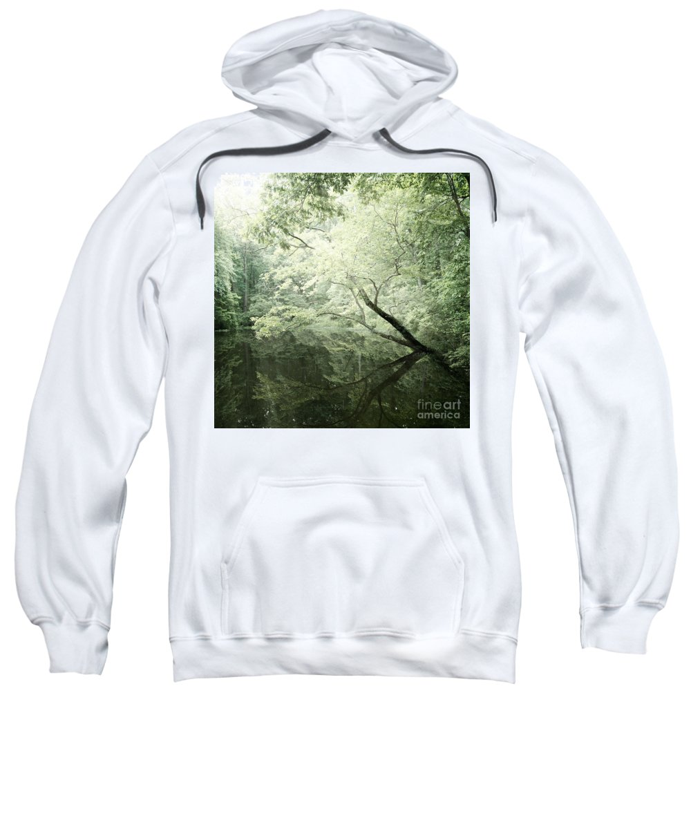 Pine Mountain Sweatshirt featuring the photograph Reflecting Pond by Susan Garver