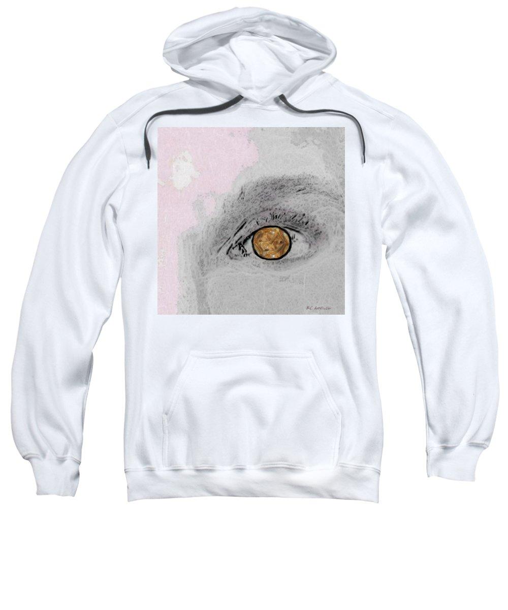 Eye Sweatshirt featuring the digital art Reflection In A Golden Eye by RC DeWinter