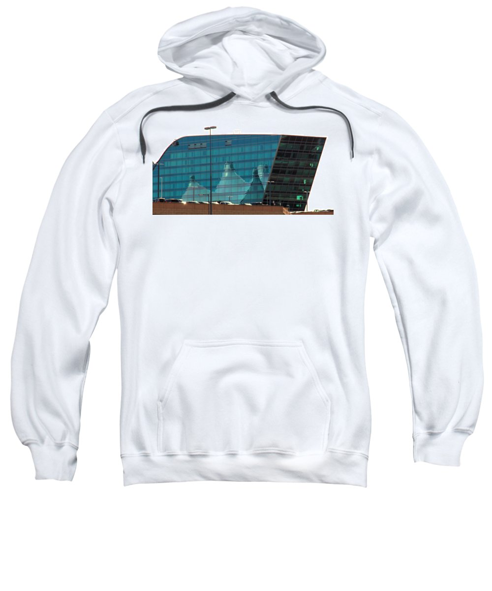 Reflection Sweatshirt featuring the photograph Reflection Of The Mountains by Robert W Dunlap