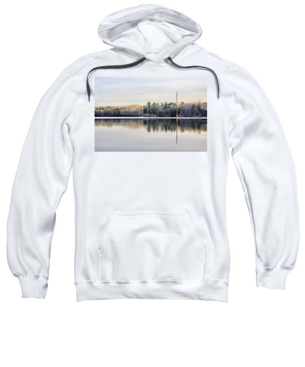 Water Sweatshirt featuring the photograph Reflections Across The Water by Deborah Benoit
