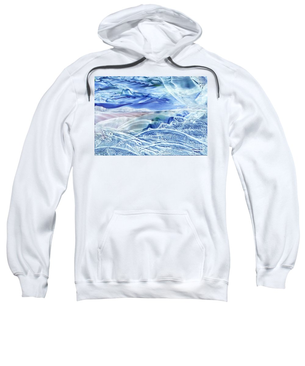 Wax Sweatshirt featuring the painting Reflections Of The Moon by Shelley Jones