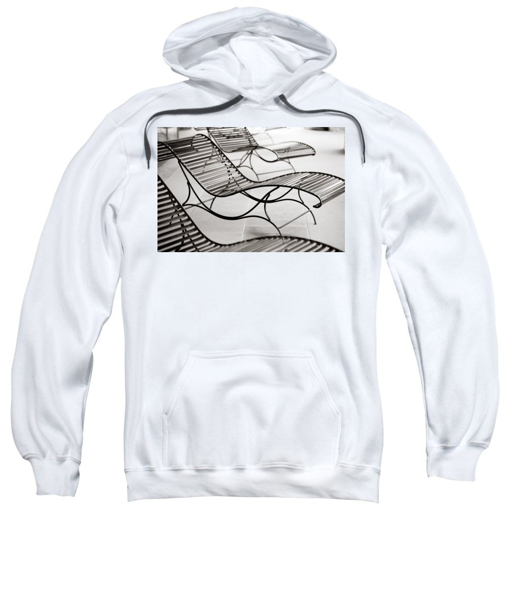 Chair Sweatshirt featuring the photograph Relaxation by Marilyn Hunt