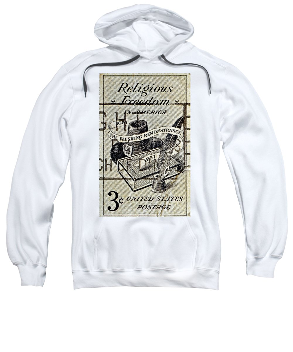 1957 Sweatshirt featuring the photograph Religious Freedom In America - Persevering by Bill Owen