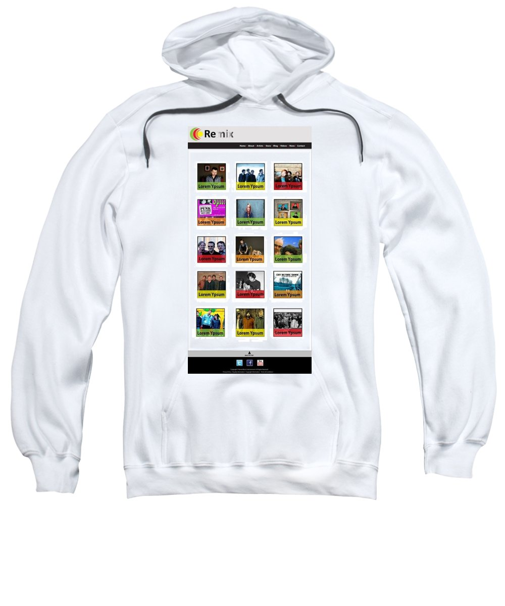 Website Design Samples Sweatshirt featuring the photograph Remix - Artists Page by Alex Art and Photo