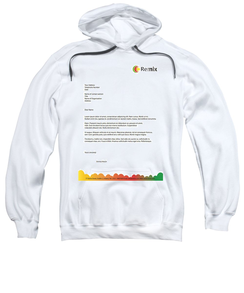 Sample Letterhead Design Sweatshirt featuring the photograph Remix - Letterhead by Alex Art and Photo