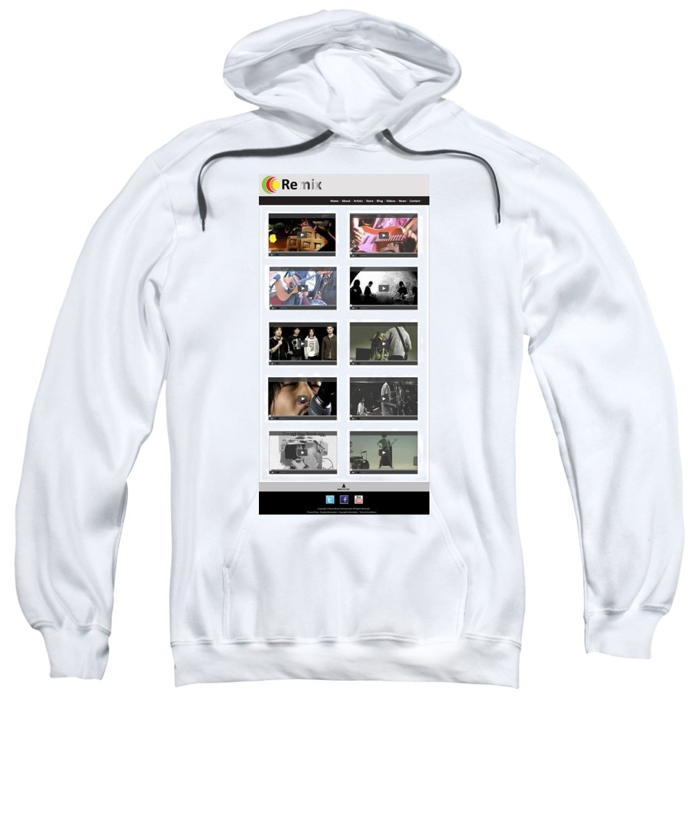 Website Design Samples Sweatshirt featuring the photograph Remix - Videos Page by Alex Art and Photo