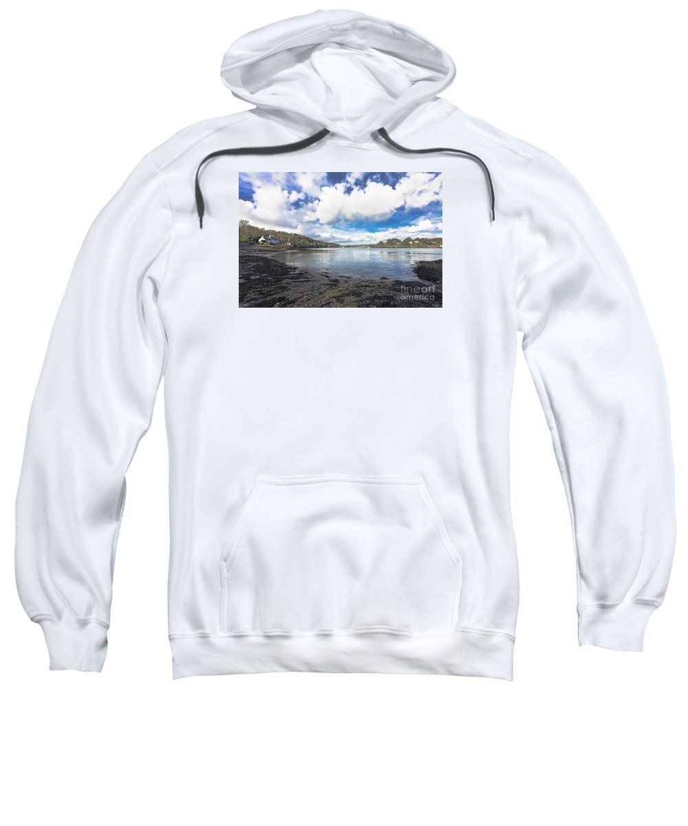 Coastline Sweatshirt featuring the photograph Restronguet Passage Hdr by Terri Waters