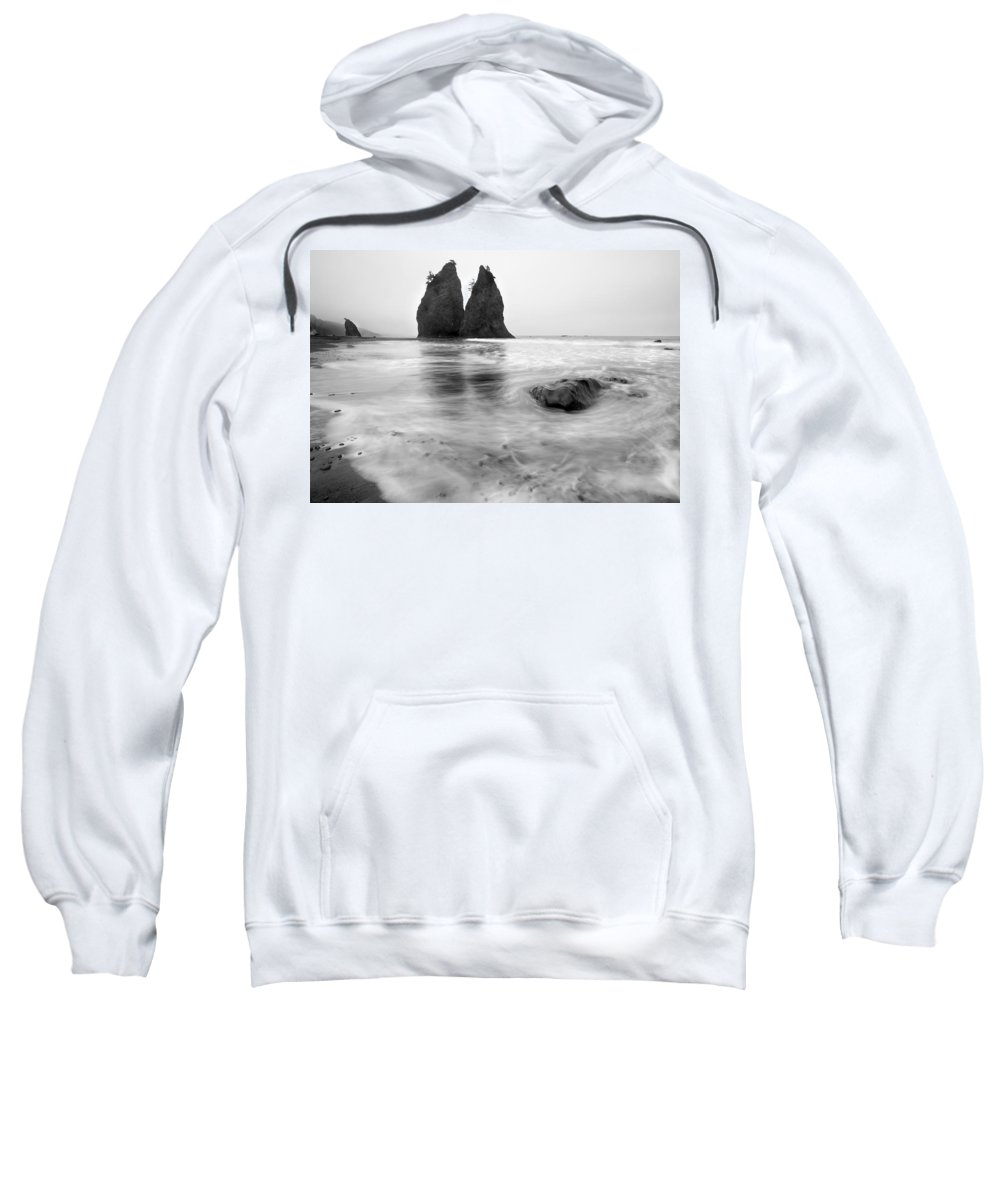 Beach Sweatshirt featuring the photograph Rialto Reflections by Mike Dawson