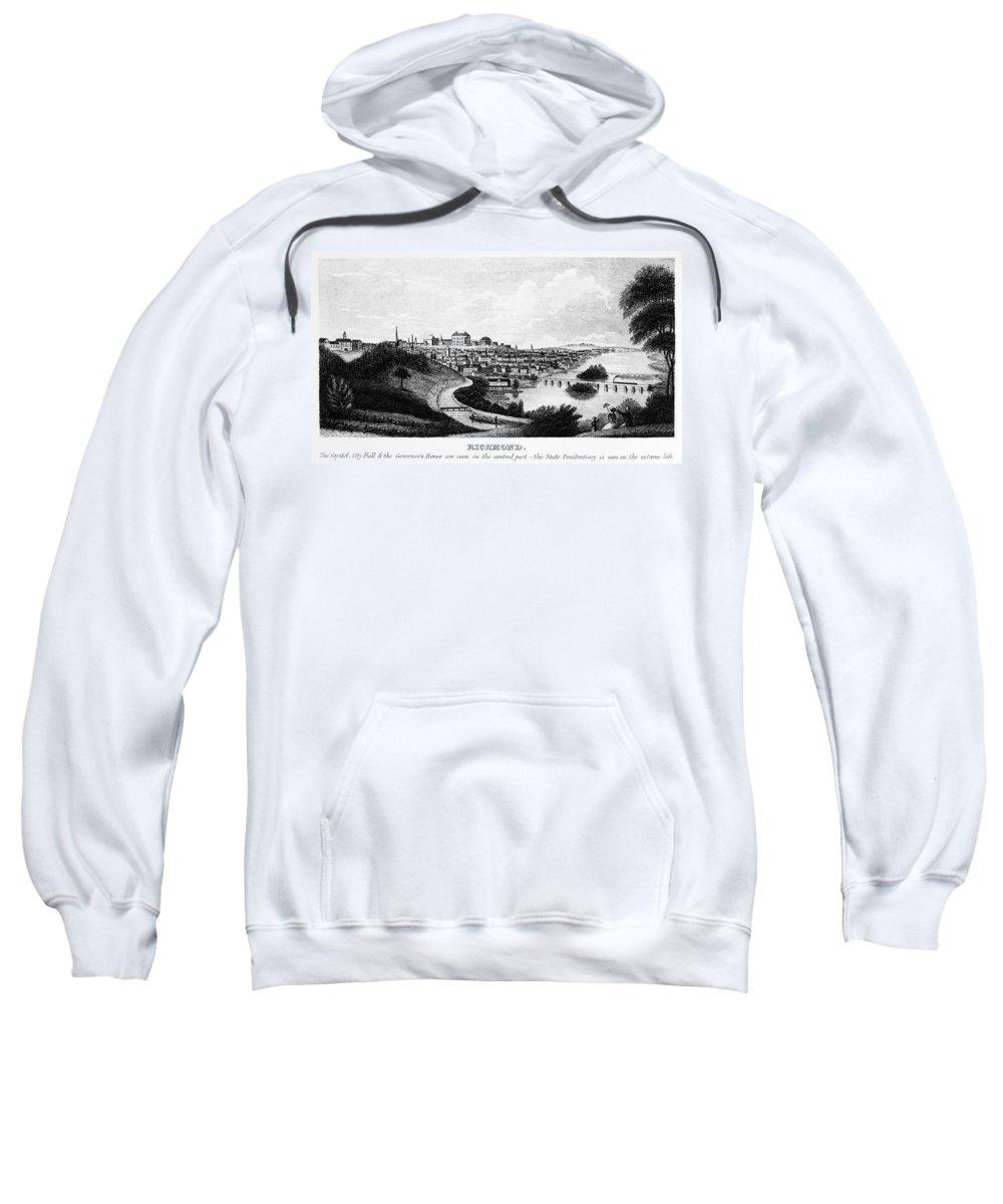 1856 Sweatshirt featuring the photograph Richmond, Virginia, 1856 by Granger