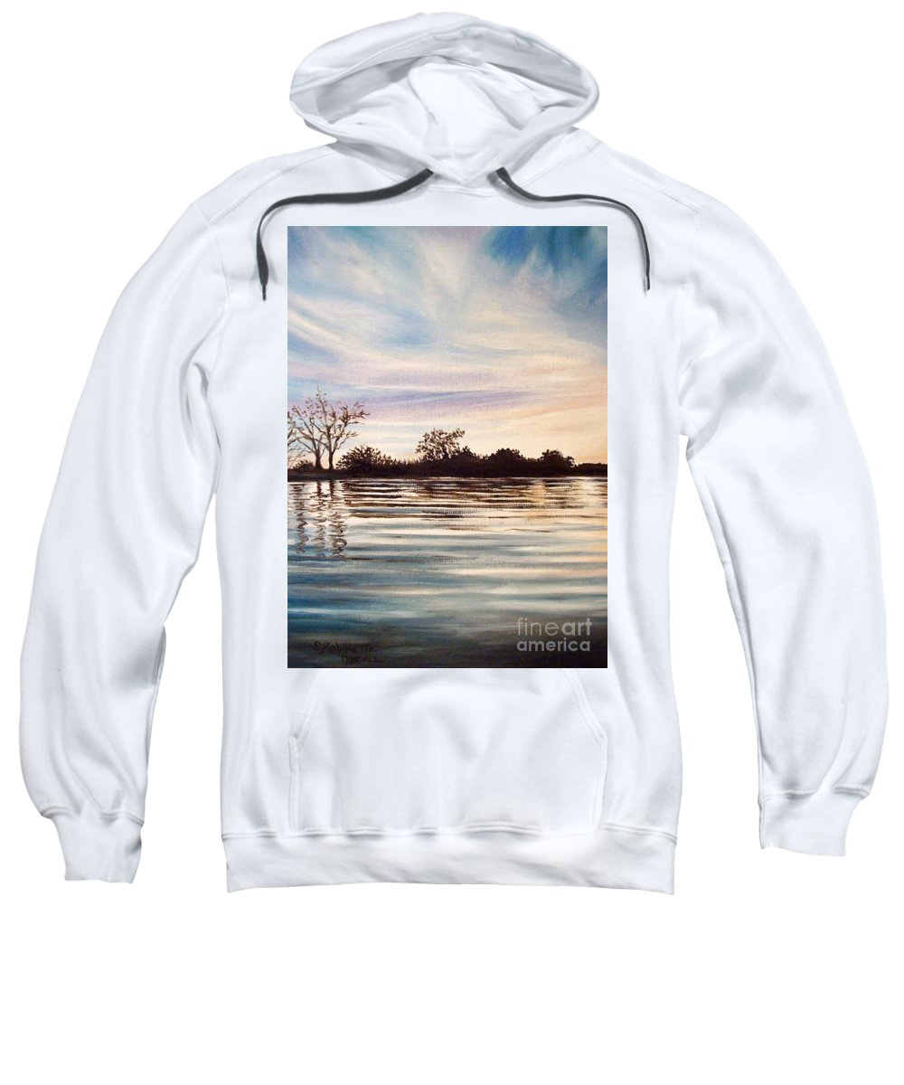 Oil Sweatshirt featuring the painting Rippled Glass by Elizabeth Robinette Tyndall