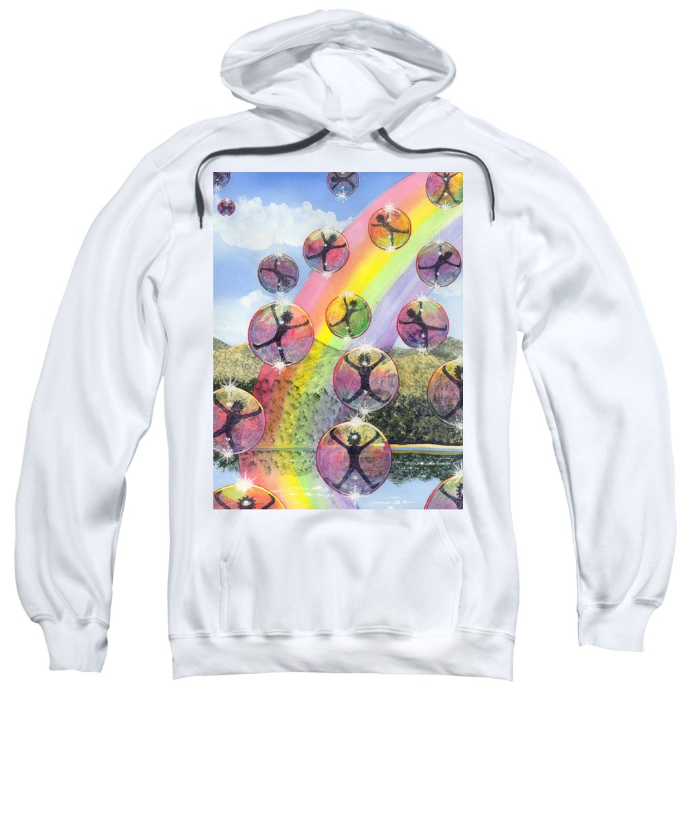 Bubbles Sweatshirt featuring the painting Rising Above It All by Catherine G McElroy