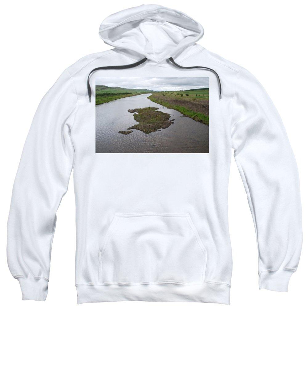 River Sweatshirt featuring the photograph River by Kristen Bird
