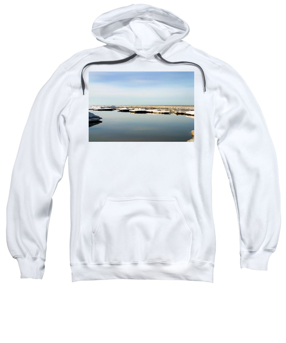 Ocean Sweatshirt featuring the photograph River To The Arctic Ocean by Anthony Jones