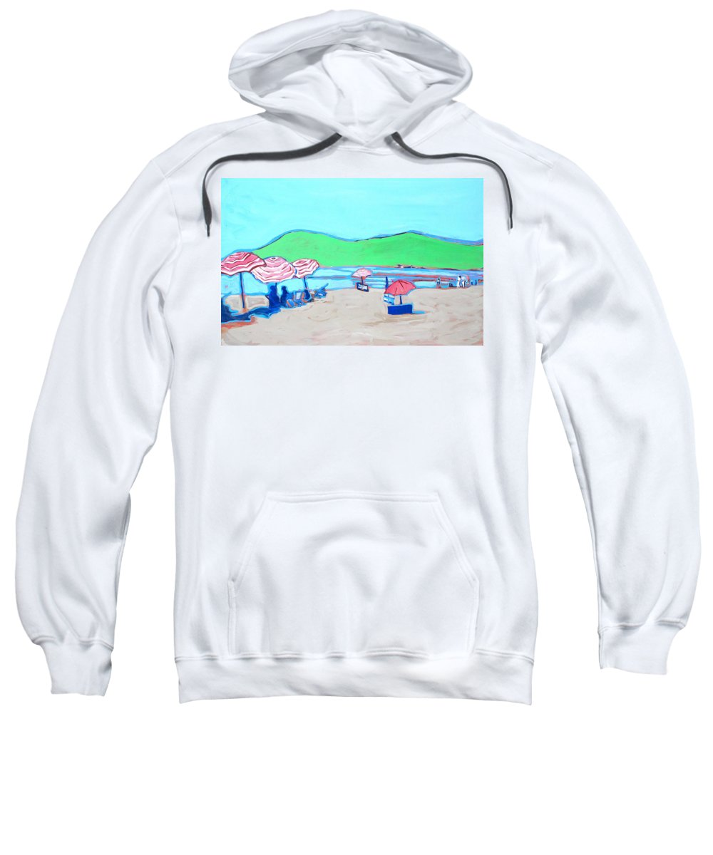 Seashore Sweatshirt featuring the painting Riviera by Kurt Hausmann