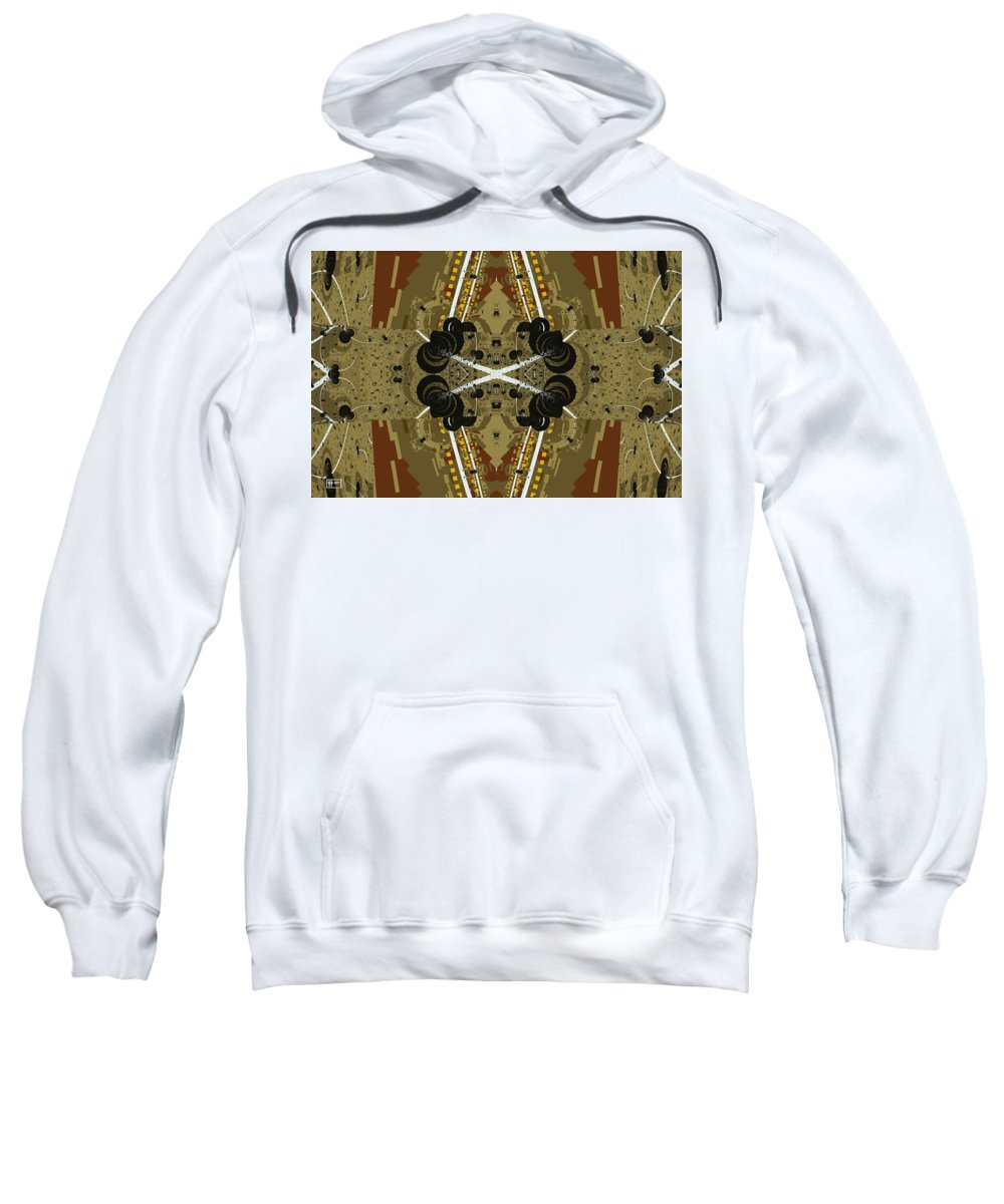 Abstract Sweatshirt featuring the digital art Road Map by Jim Pavelle
