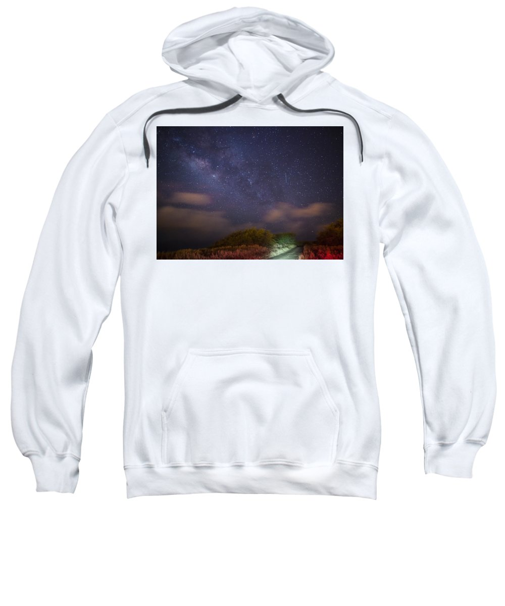 Landscape Sweatshirt featuring the photograph Road To Milky Way by Howard Olympia
