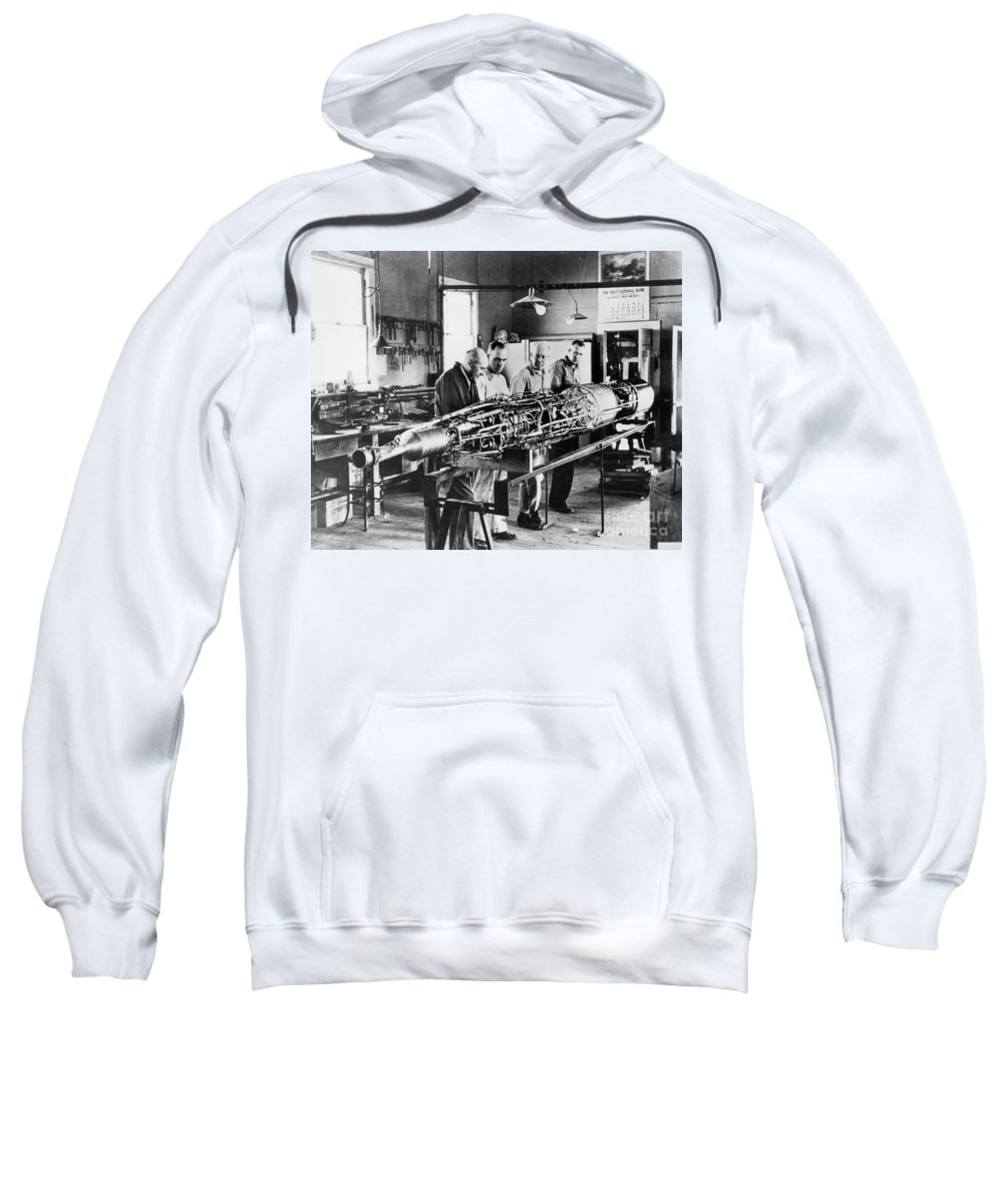 1940 Sweatshirt featuring the photograph Robert Hutchings Goddard by Granger