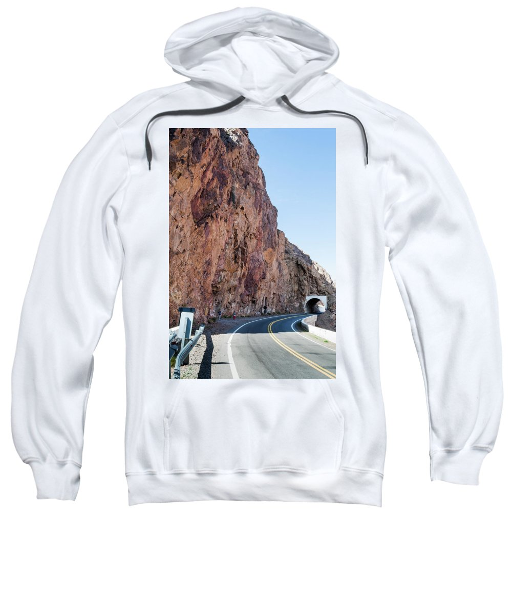 Landscape Sweatshirt featuring the photograph Rock And Road by Fausto Capellari