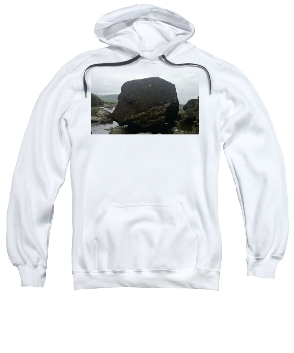 Sweatshirt featuring the photograph Rock Dog's Face by Shahani Egno