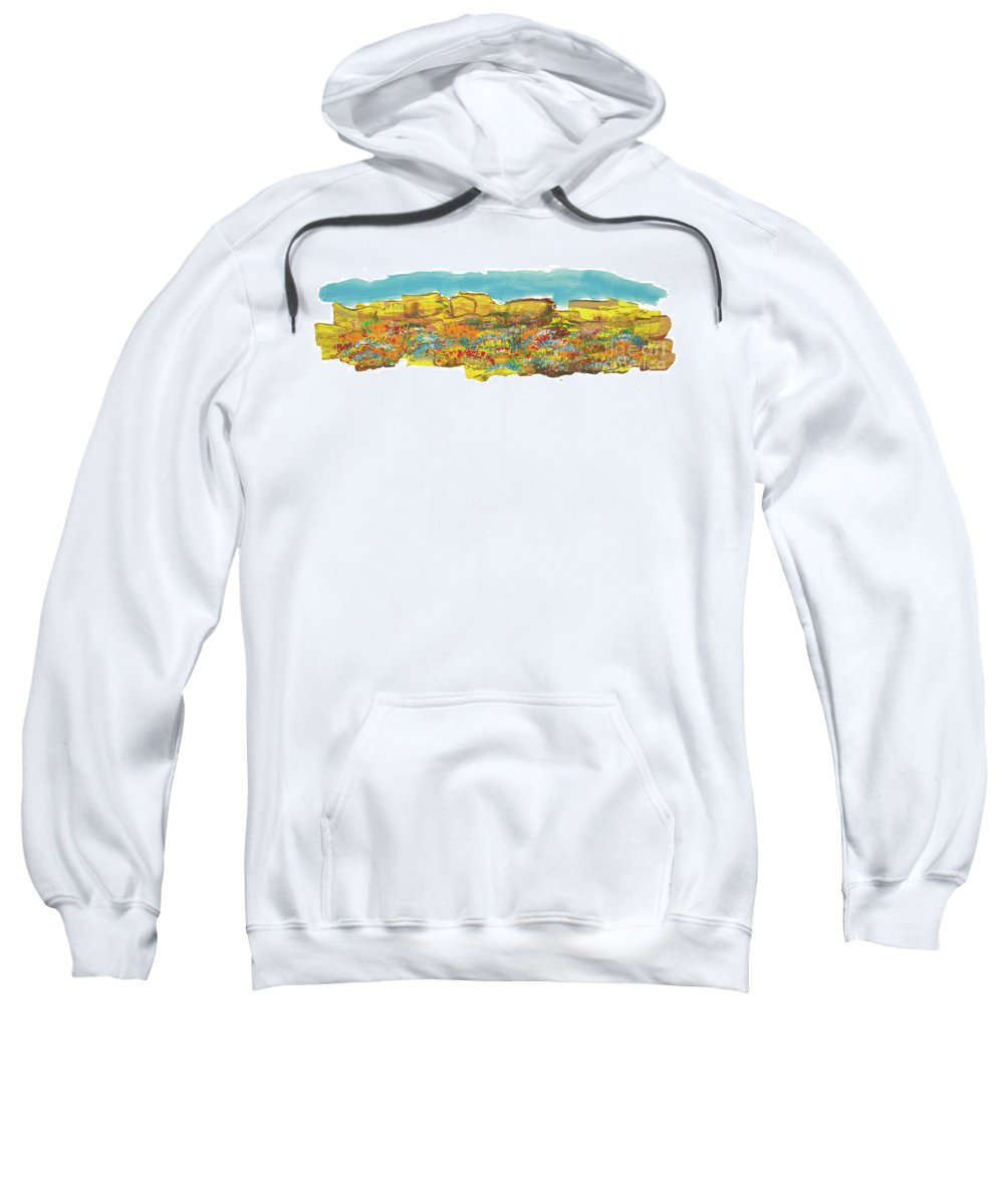 Rocks Sweatshirt featuring the painting Rock Springs by Bjorn Sjogren