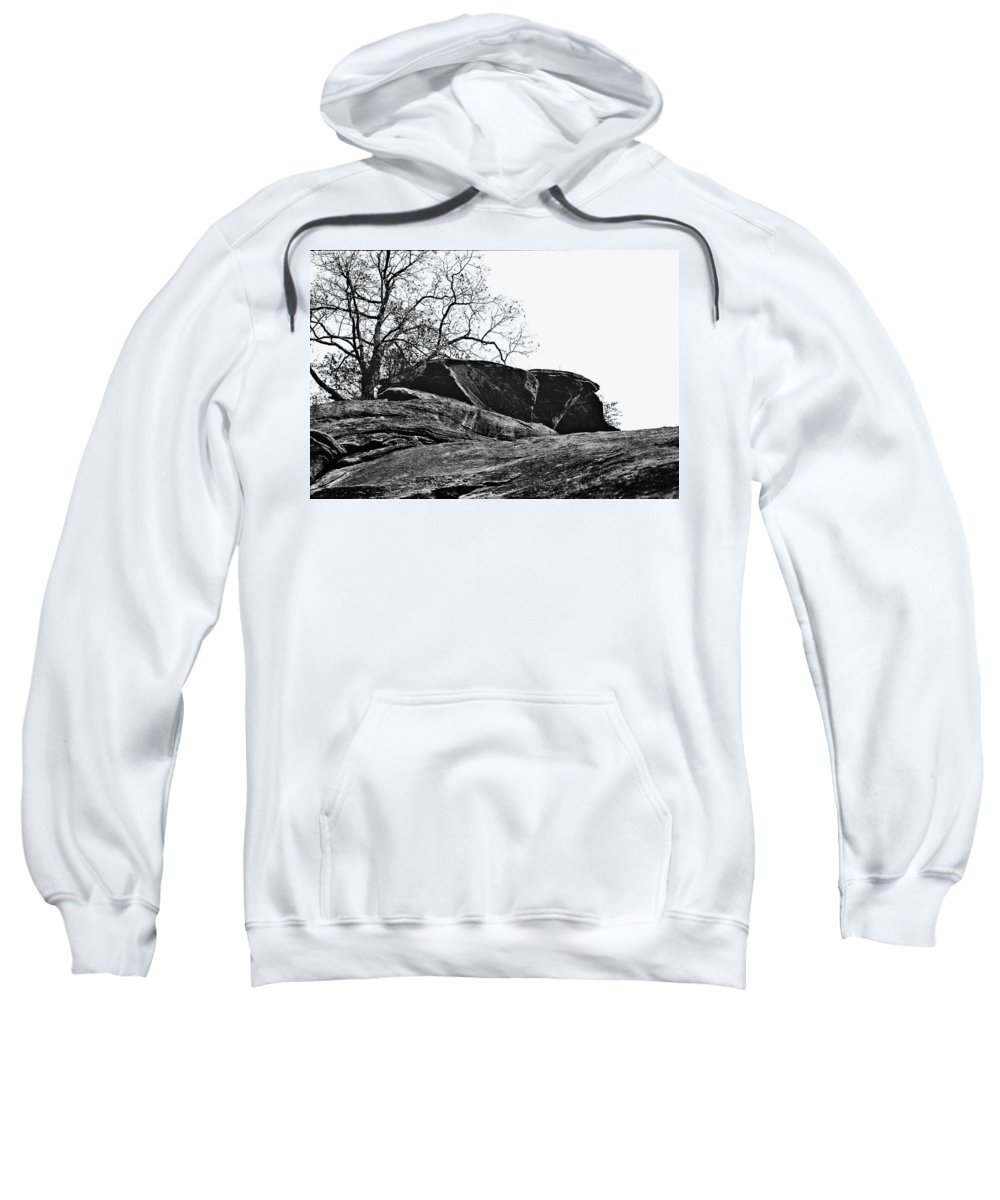 Landscape Sweatshirt featuring the photograph Rock Wave by Steve Karol