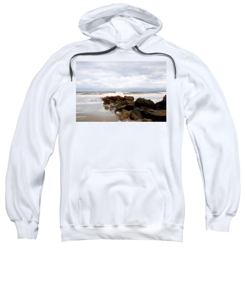 Rocks Sweatshirt featuring the photograph Rocks On The Beach by Susanne Van Hulst