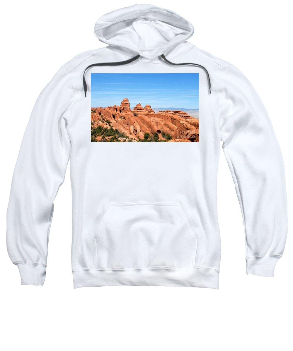 Utah Sweatshirt featuring the photograph Rocksky by David Lee Thompson
