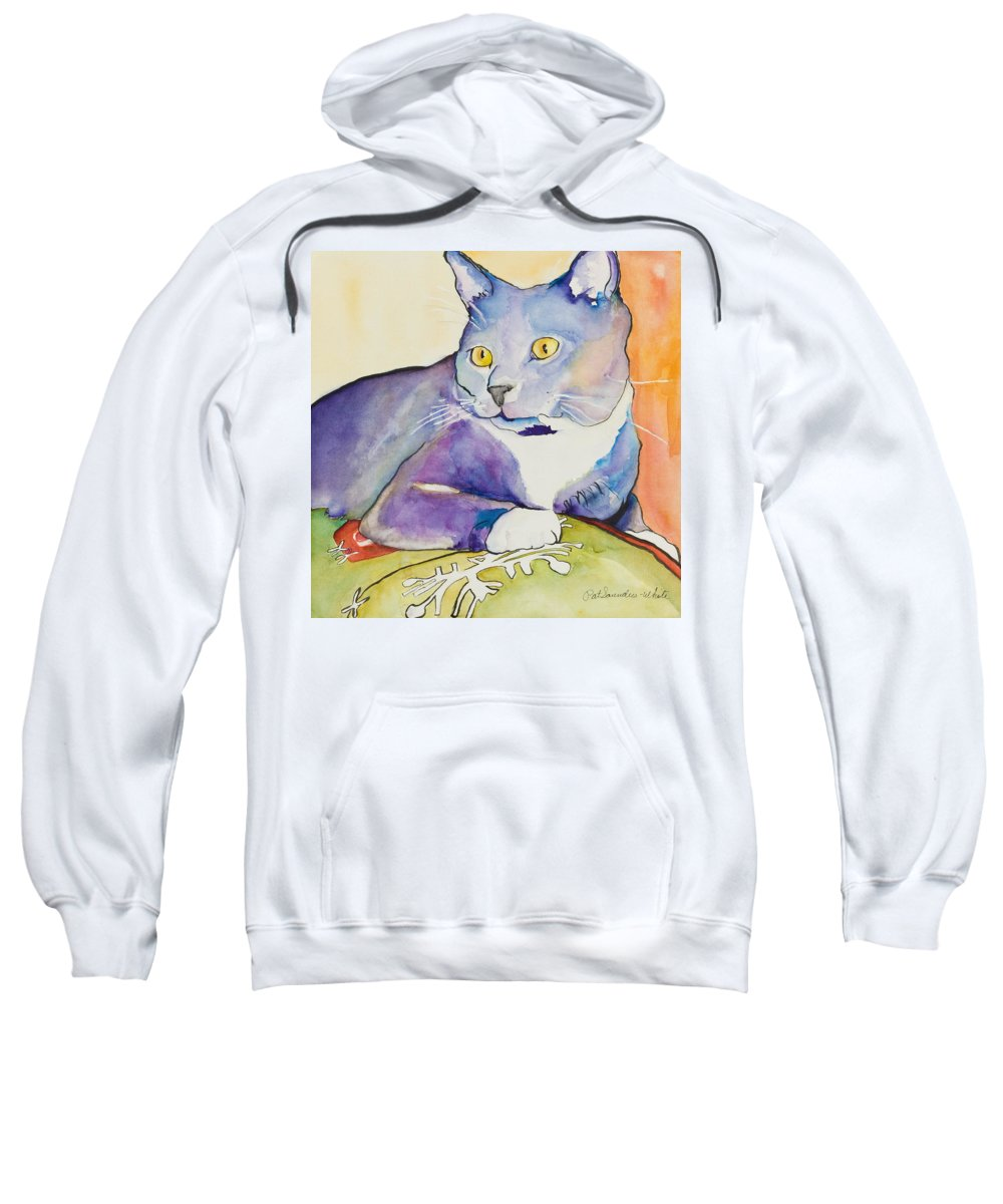 Pat Saunders-white Sweatshirt featuring the painting Rocky by Pat Saunders-White