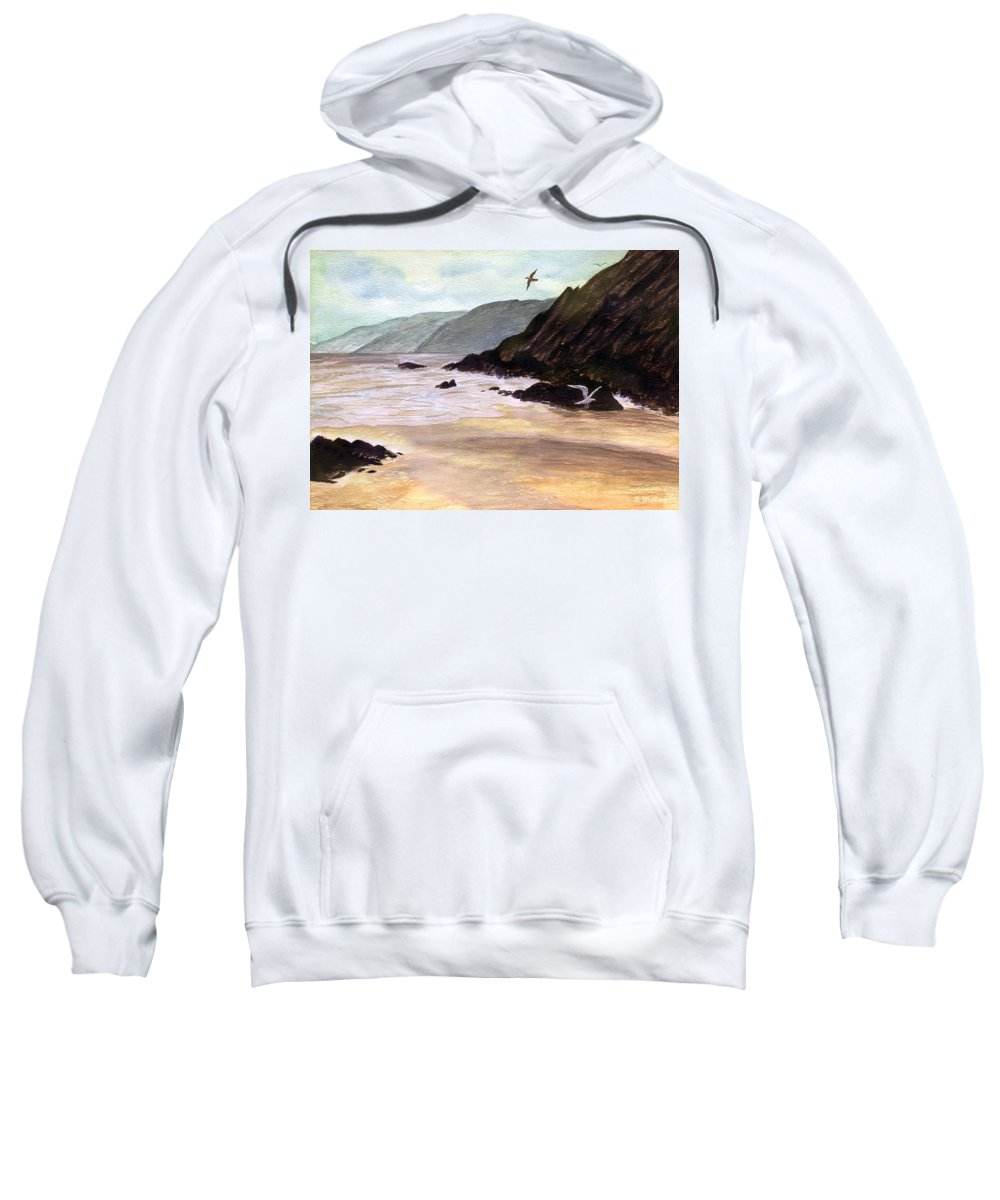 2d Sweatshirt featuring the painting Rocky Shore by Brian Wallace