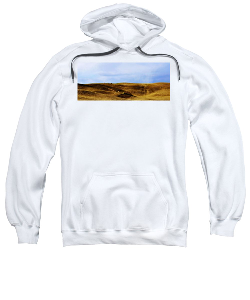 Italy Sweatshirt featuring the photograph Rolling Hills Of Hay by Marilyn Hunt