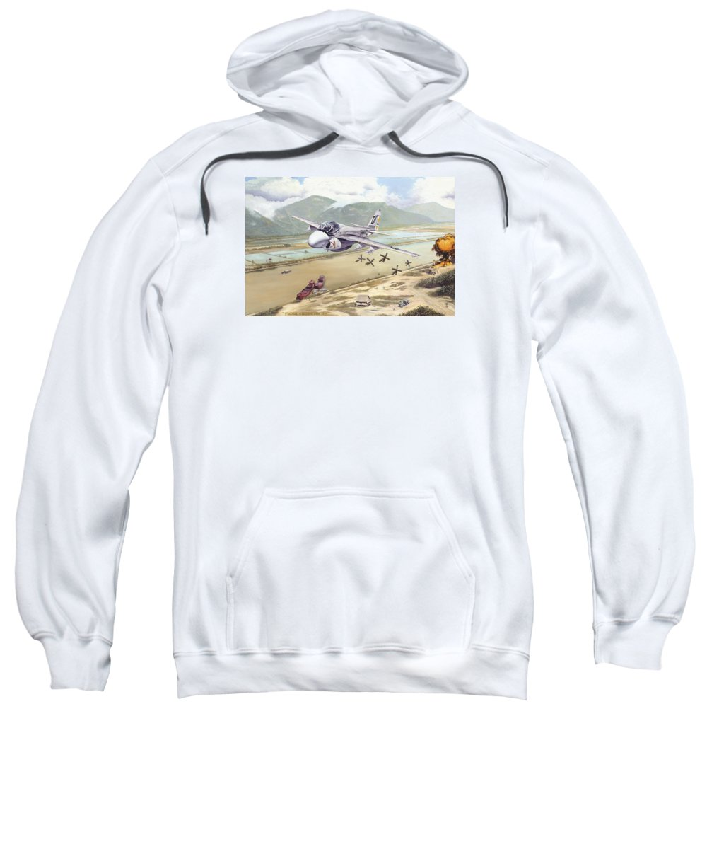 A-6 Sweatshirt featuring the photograph Rolling Snakeyes by Marc Stewart