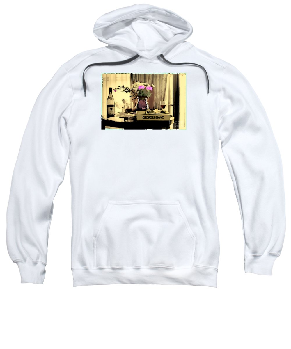Still Life Sweatshirt featuring the photograph Romance In The Afternoon 2 by Madeline Ellis